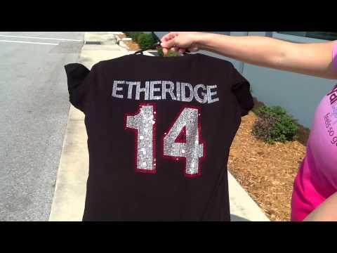 Check Out Our Mega Bling Rhinestone Baseball Mom Shirt