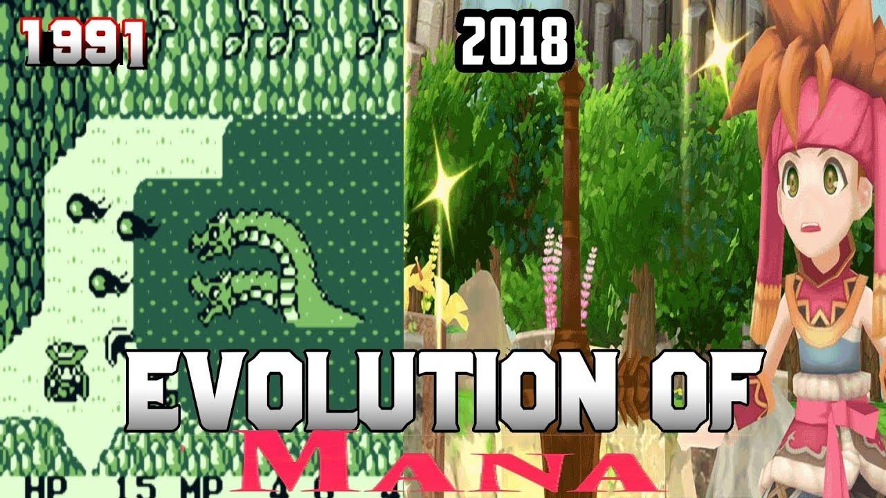 Graphical Evolution of Mana/Seiken Densetsu (1991-2018)