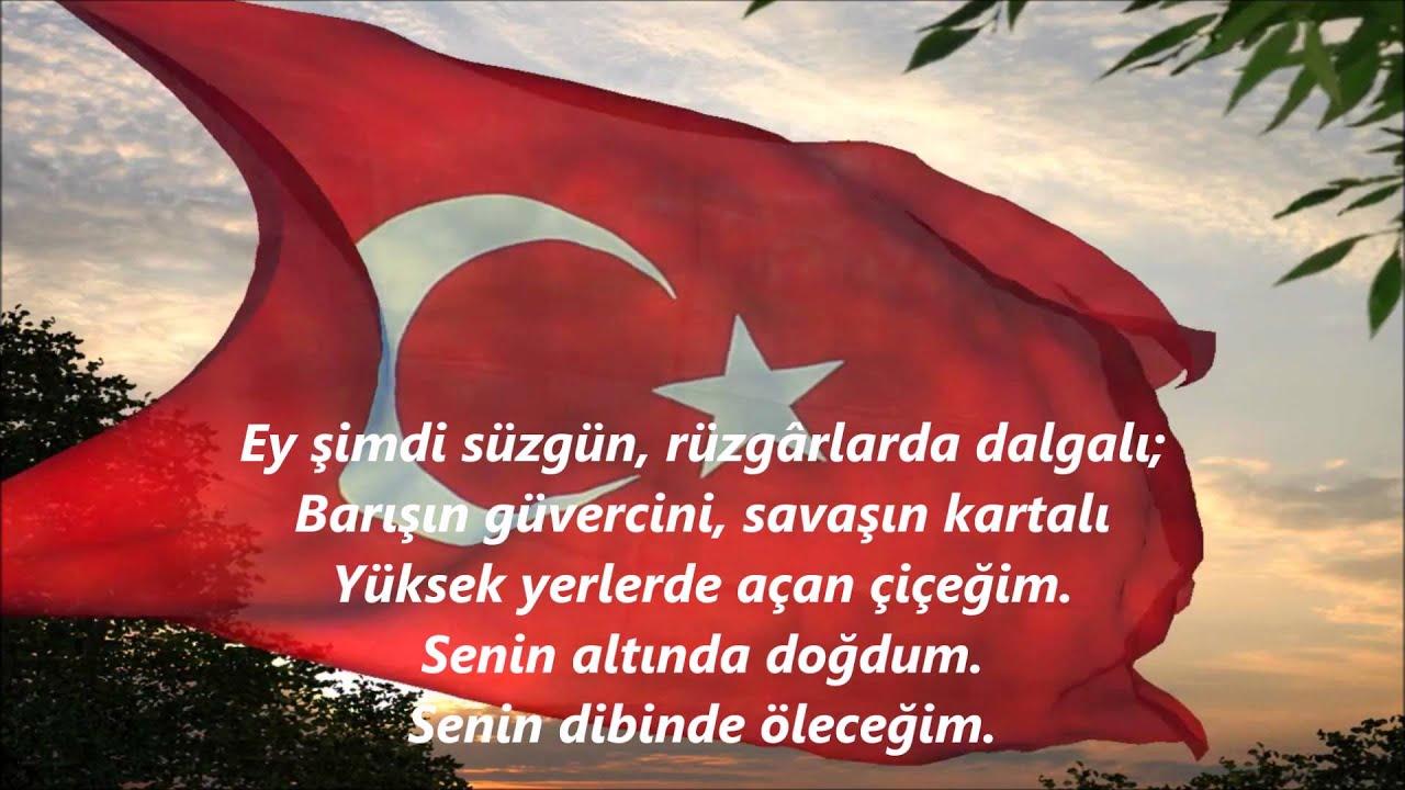 Bayrak şiiri Arif Nihat Asyaey Mavi Göklerin Beyaz Ve Kızıl Süsü
