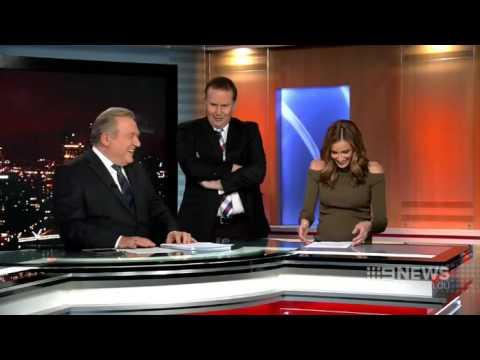 An awkward moment on Nine News Melbourne (1/08/2016)