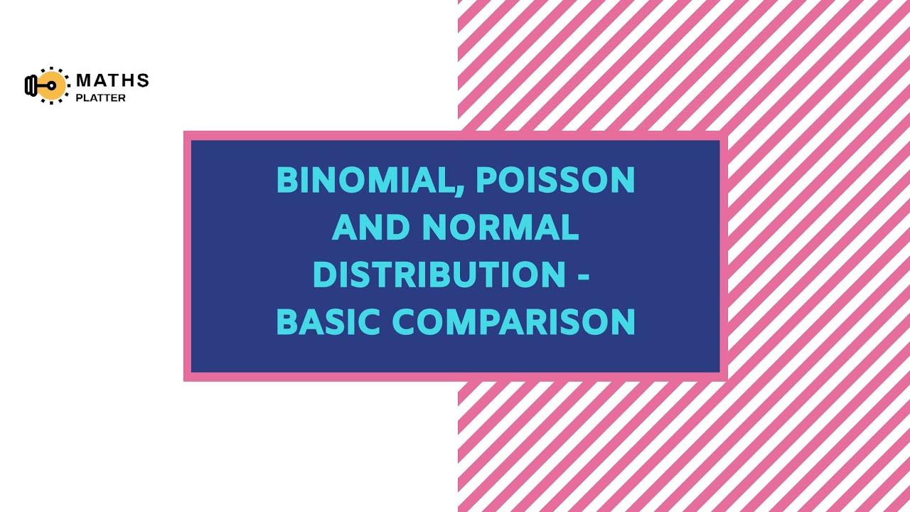 Binomial , Poisson and Normal Distribution - A basic comparison