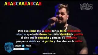 MINUTO libre de PAPO vs CACHA +letra | FMS Jornada 5