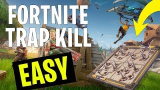 EASY way to get a Trap Elimination in Fortnite