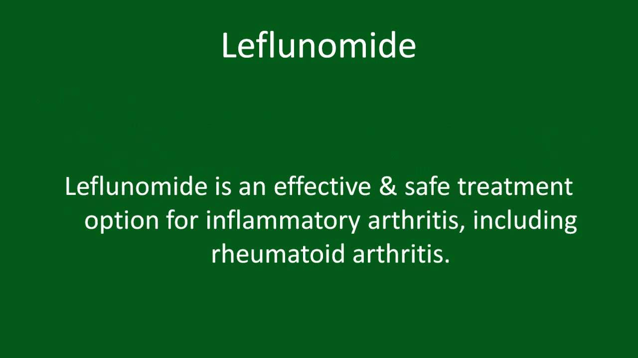 Leflunomide Rheumatoid Arthritis