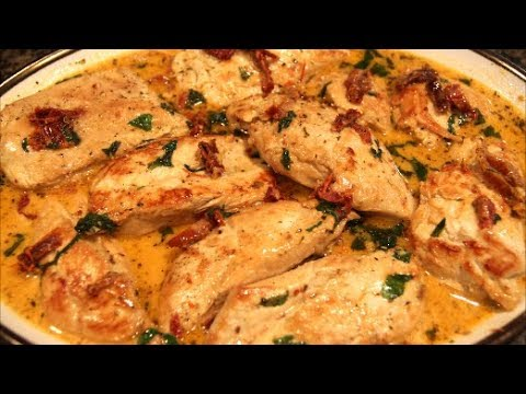 Chicken Breast With Sun-Dried Tomato Sauce.