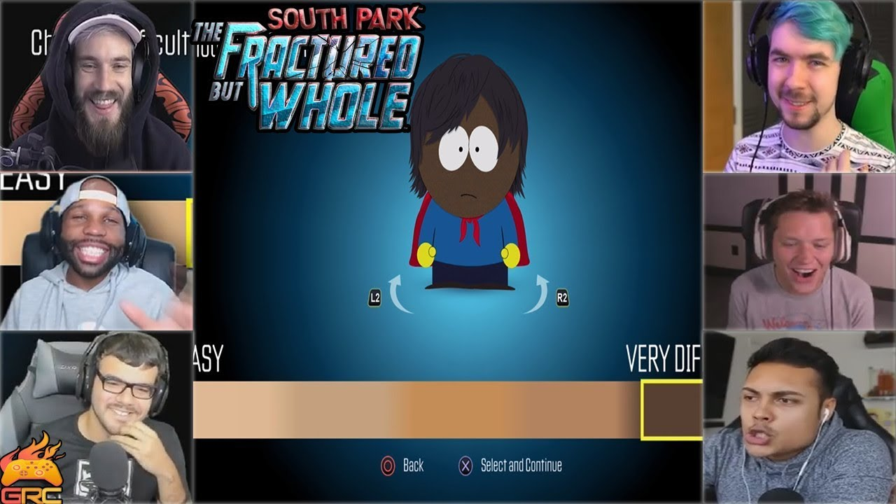 Gamers Reactions to Choosing Difficulty | South Park™: The Fractured But Whole