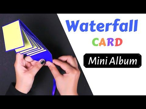 How to make waterfall card - Best scrapbook and explosion box decoration idea  - Handmade mini album