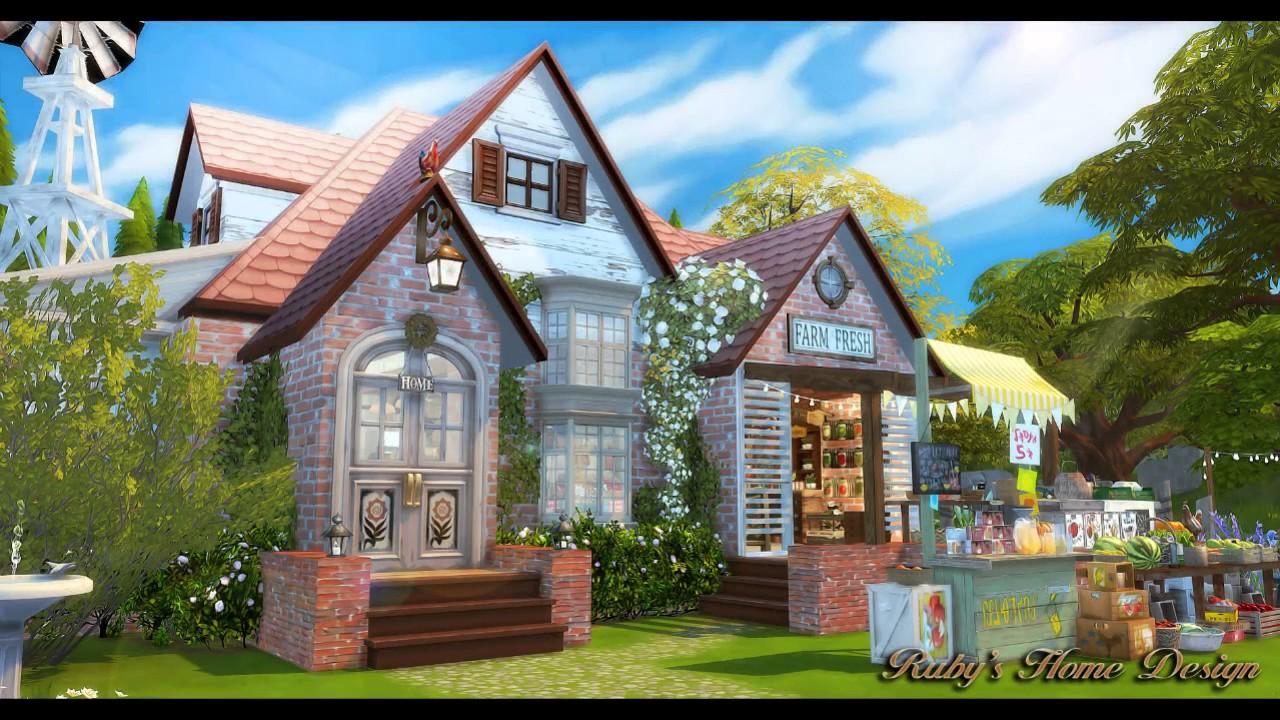 The Sims 4 Farmers Market Slideshow 模擬市民4 - 農莊的小市場 房屋+CC下載 - YouTube