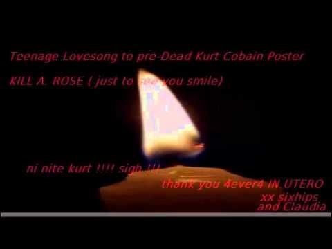Teenage LoveLetter to pre Dead Kurt Cobain Poster