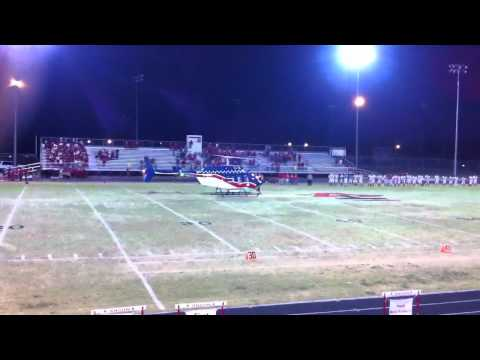 Air Evac lands on the field