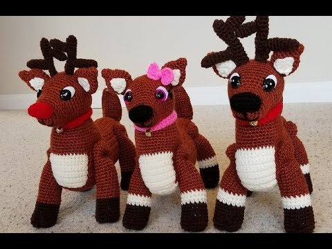 King Cole RUDOLPH Reindeer Toy Yarn Pack Crochet Kit | 360x480