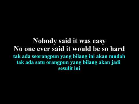 Coldplay  - The Scientist Lirik Dan Arti Bahasa Indonesia