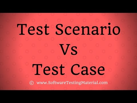 Test Scenario Vs Test Case