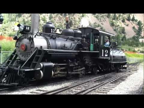 Georgetown Loop Railroad #12 leaving Silver Plume