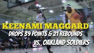 Keenami Maggard drops 39 pts & 21 rebs vs Oakland Soldiers 16u