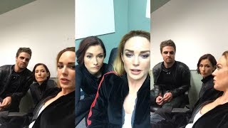 Caity Lotz with Stephen Amell & Chyler Leigh | Instagram Live Stream | 18 October 2017 [Backstage]