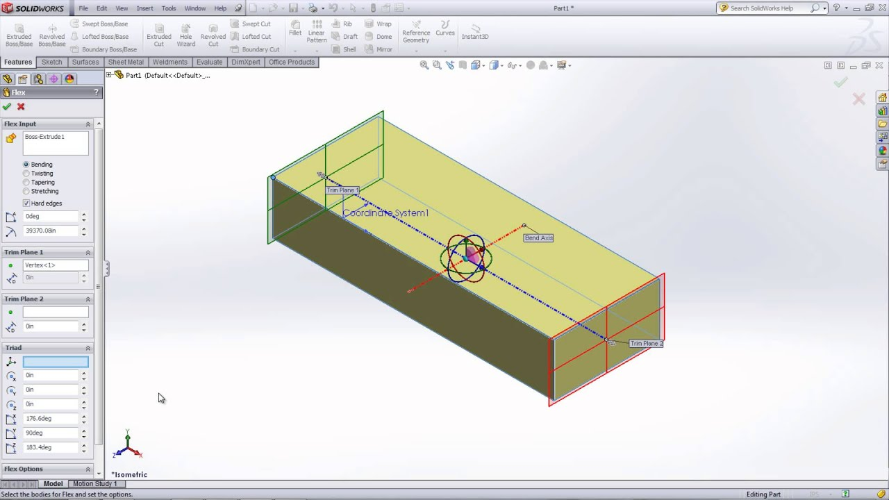 SOLIDWORKS Flex Feature for Bending & Twisting Parts