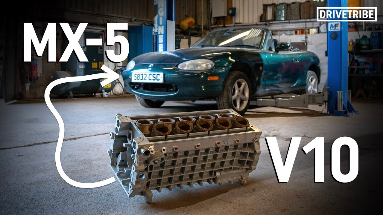 We're putting a V10 into a Mazda MX-5!