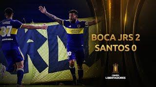 Boca vs. Santos [2-0]   RESUMEN   Fecha 2   CONMEBOL Libertadores 2021