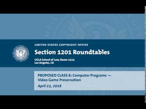 Seventh Triennial Section 1201 Rulemaking Hearings: Los Angeles, CA (April 23, 2018) - Prop. Class 8