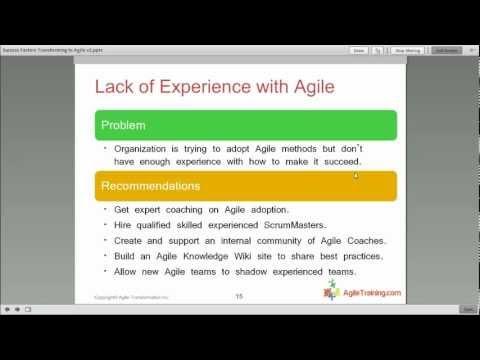 Success Factors When Transforming to Agile