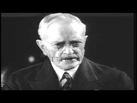US Army General John J Pershing addresses the nation from Washington DC, US and u...HD Stock Footage