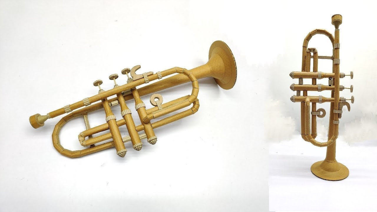 How to Make Trumpet From Cardboard - Easy DIY - YouTube