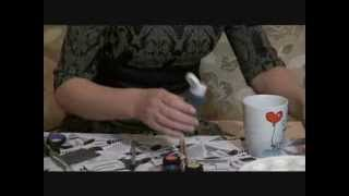 Роспись кружки - легко и быстро