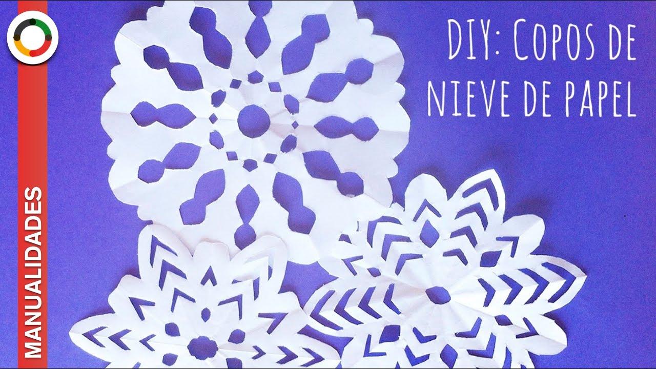 Cómo hacer copos de nieve de papel ❅ ❄ ❆ MUY FÁCIL ❅ ❄ ❆ - YouTube