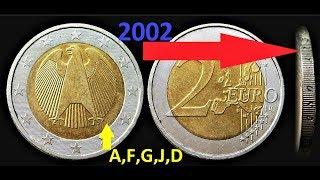 2 Euro 2002 A  F  G  J  D Germany Deutschland EINIGKEIT UND RECHT UND FREIHEIT UNITY JUSTICE FREEDOM