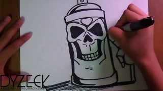 рисунок  баллончик  ЧЕРЕП  граффити(баллончик ЧЕРЕП граффити., 2014-04-11T23:41:28.000Z)