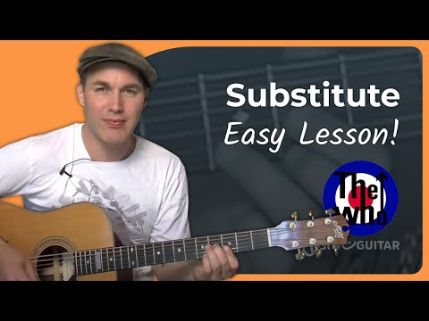 Substitute - The Who (Beginner Song Guitar Lesson BS-998) How To Play