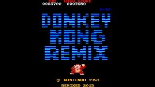 Donkey Kong Remix arcade gameplay