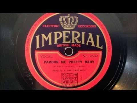 """Elsie Carlisle - """"Pardon Me, Pretty Baby"""" (1931)"""