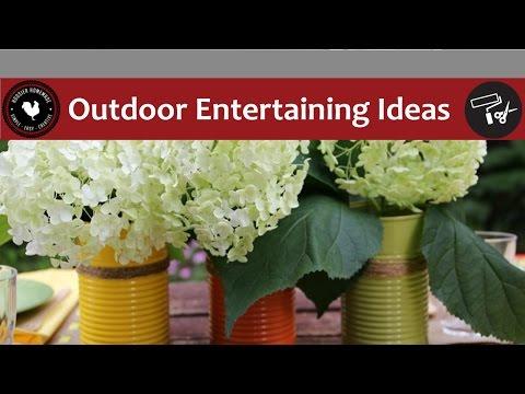 Outdoor Entertaining Ideas – Easy DIY Project