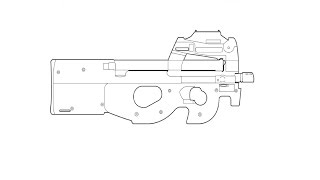 How to draw an assault rifle tutorials and online canvas