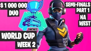 Fortnite World Cup WEEK 2 Highlights - Semifinal Part 1 NA WEST DUO Day 1 [Fortnite Tournament 2019]