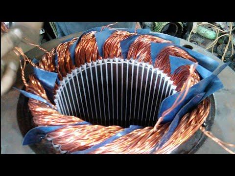 54 slot 5.5 Hp 3-phase Induction motor rewinding motor - YouTube