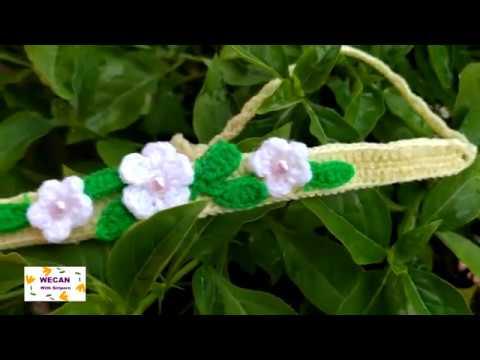 หัดทำที่คาดผมลายดอกไม้ หารายได้พิเศษกันคะ A beautiful flower headband 머리띠