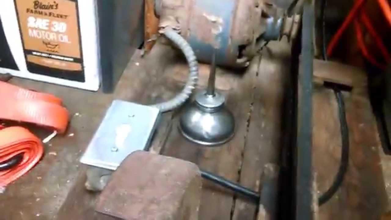 Old Belt Driven Bench Grinder Youtube
