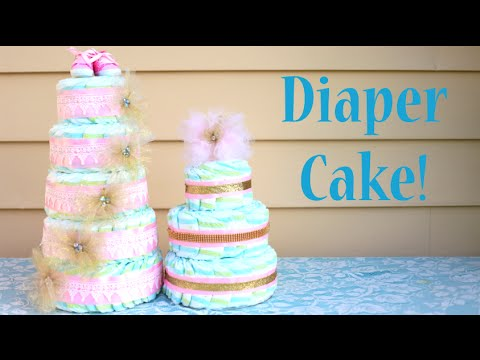 How To Make A Diaper Cake Perfect Baby Shower Gift Idea