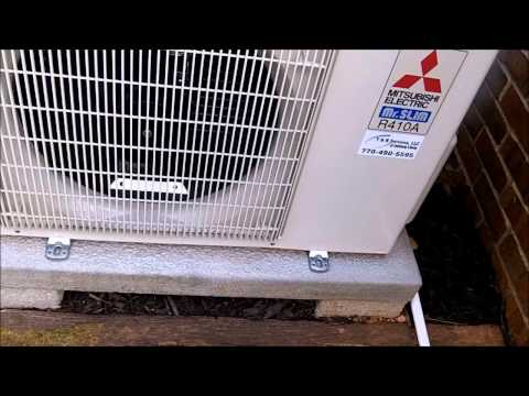 Mitsubishi Ductless Heatpump Test Run After Install