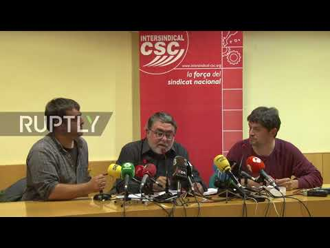 Spain: Trade union Intersindical-CSC calls for general strike in Catalonia on November 8