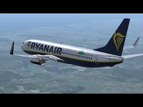 Ryanair PMDG 737 Porto LPPR - Ponta Delgada LPPD - Lisbon LPPT -Manchester EGCC (Vatsim/FSX)