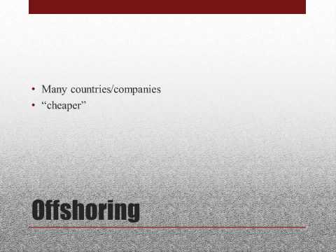 International Trade Offshoring