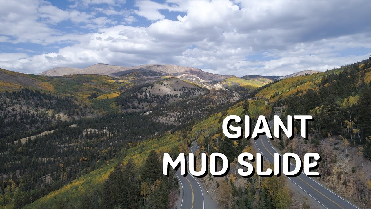 Large slow mud slide of Colorado