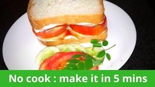 Simple Bread Sandwich/veg sandwich