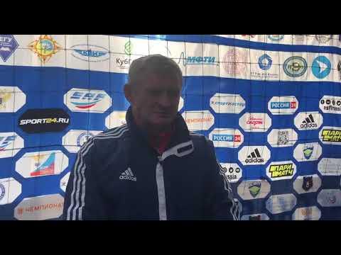 Главный тренер СПбГУ Владимир Григорьев после матча МФТИ - СПбГУ (1:3)