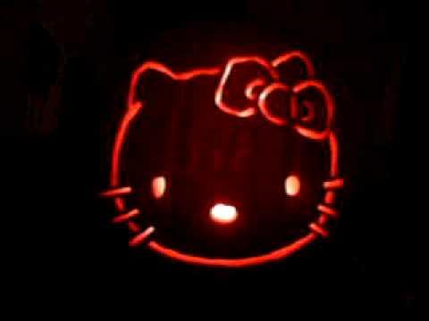 hello kitty pumpkin youtube rh youtube com hello kitty pumpkin stencil hello kitty pumpkin stencil