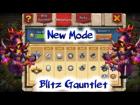 New Mode | Blitz Gauntlet | What To Do...? | Ember Army With Occultist | Castle Clash